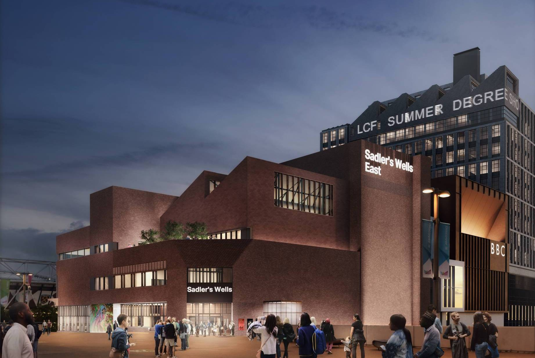 A mock-up picture of how Sadler's Wells East will look from the outside