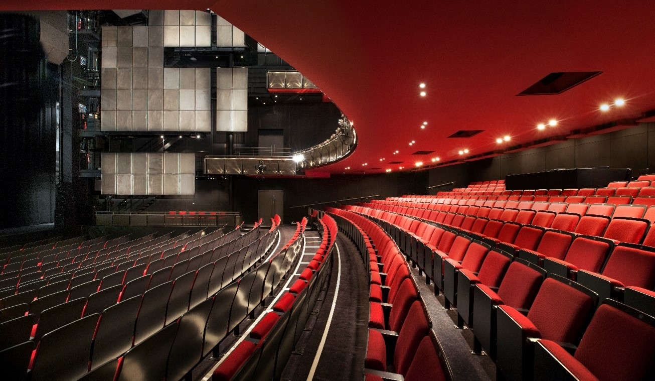 Sadler's Wells Theatre auditorium seating consisting of red chairs in rows
